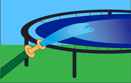 Clean a Trampoline Mat Step