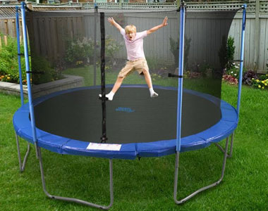 Upper Bounce Trampoline and Enclosure Set Equipped with The New Upper Bounce Easy Assemble Feature