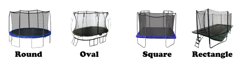 types of trampoline