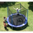 AirZone Outdoor Spring Trampoline with Mesh Padded Perimeter Safety Enclosure Overview