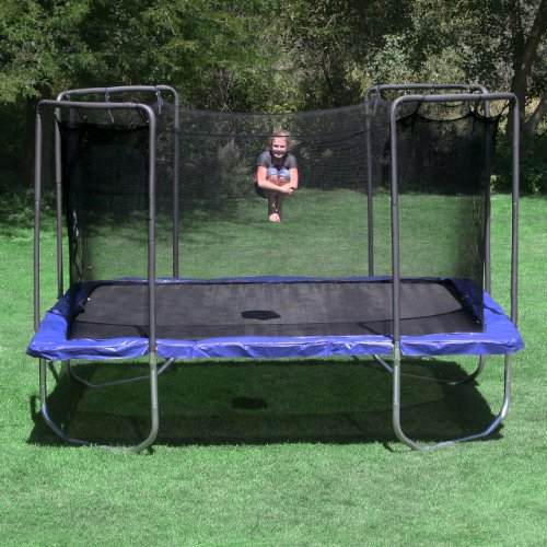 Skywalker Trampolines Square Trampoline with Enclosure, Blue, 15-Feet Overview