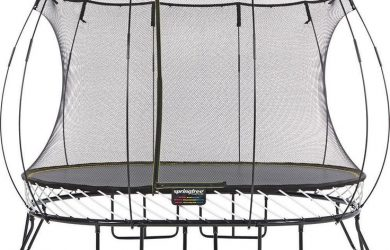 maintaining upper bounce with good trampoline springs and net