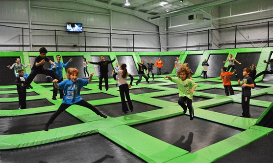 Should you play trampoline in a park or at home
