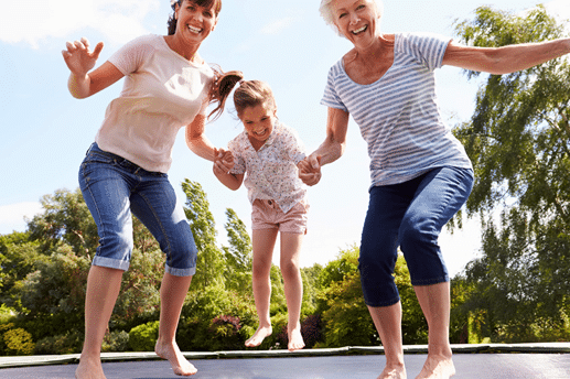 the trampolines and the lymph system
