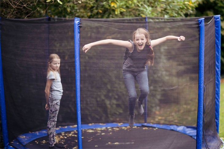 best buy trampoline with enclosure