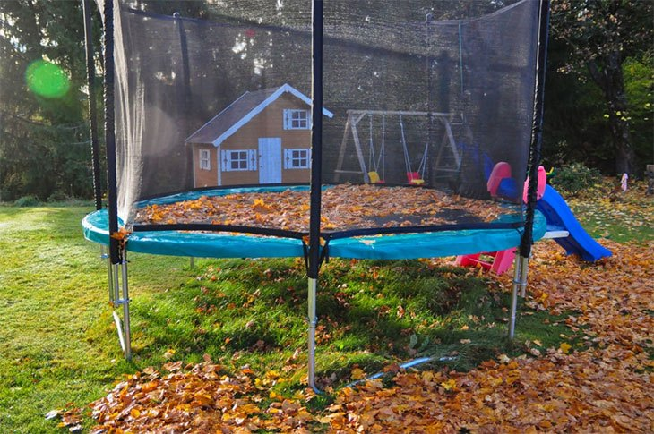 trampoline care in winter
