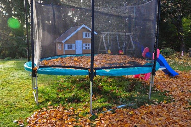 trampoline care in winter