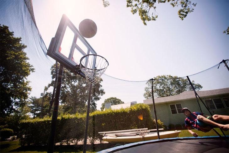 trampoline basketball hoop amazon