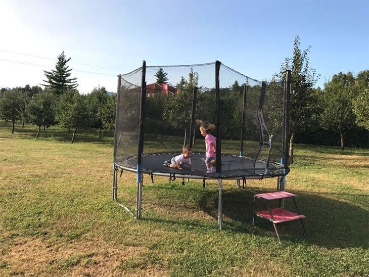 trampoline care during winter