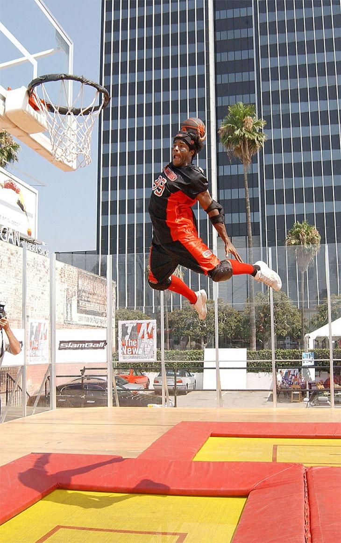 trampoline basketball hoop big